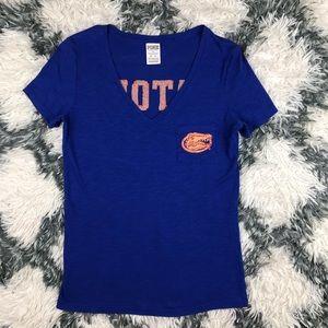 PINK Victoria's Secret UF Gator T Shirt XS Blue